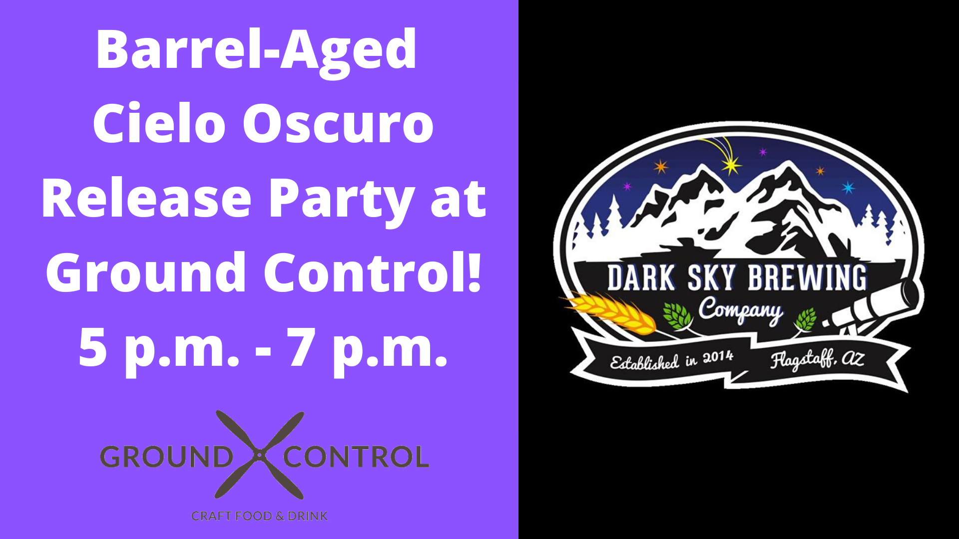 DARK SKY BARREL-AGED CIELO OSCURO BATCH 2 RELEASE