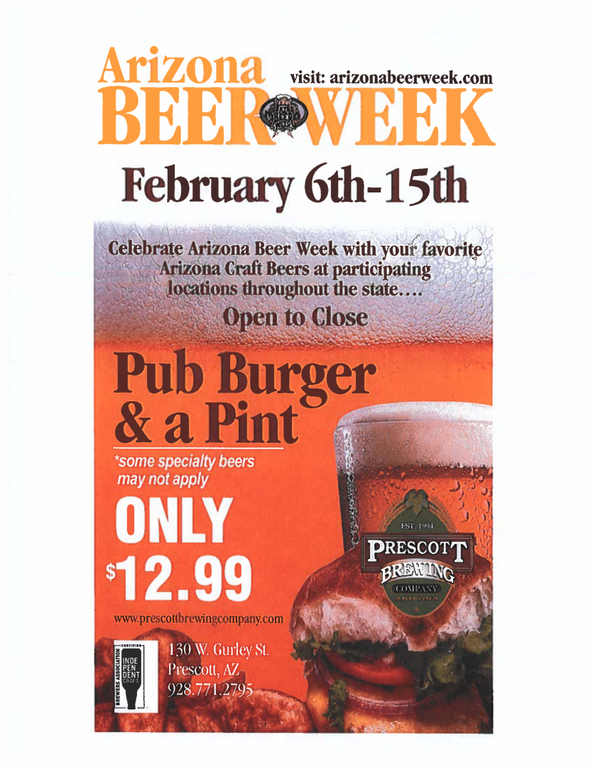 Pub Burger and Pint Combo Special