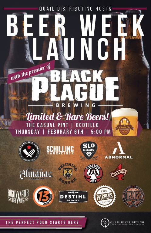 Quail Beer Week and Black Plague Brewing Launch