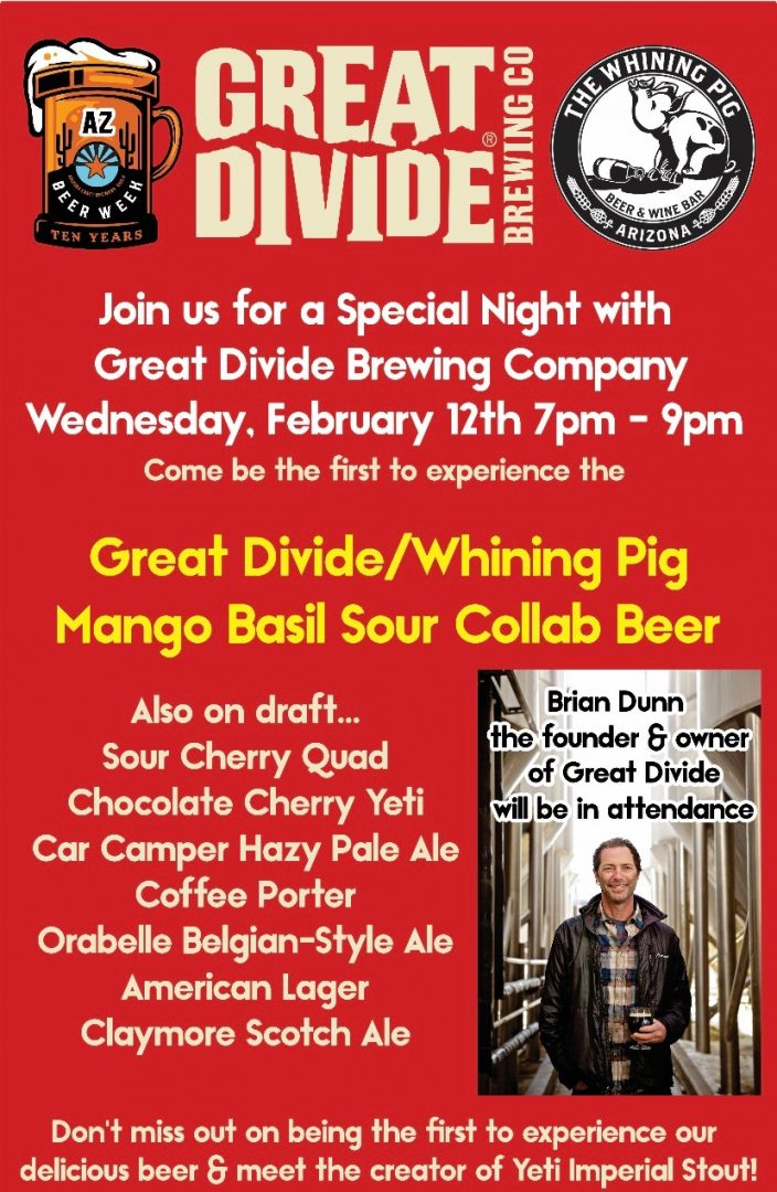 Meet and Greet with Founder and Owner of Great Divide, Brian Dunn