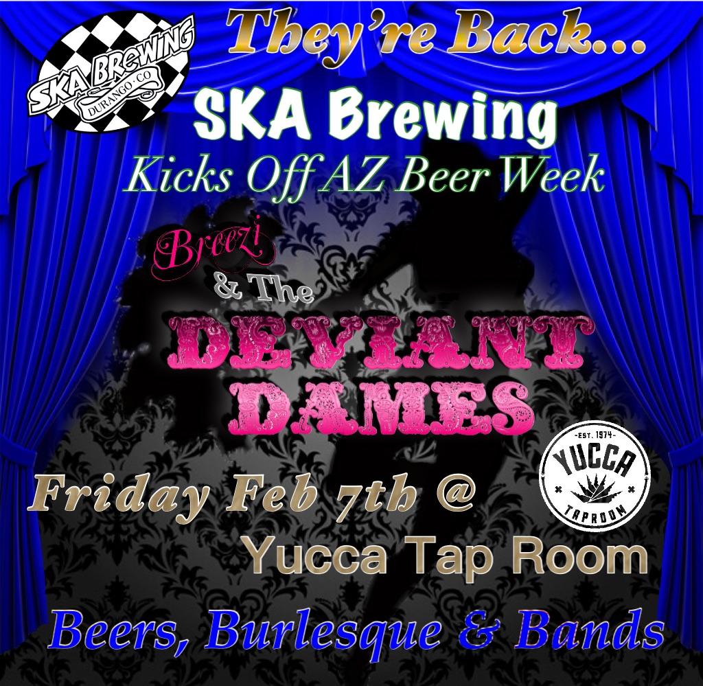SKA Brewing Presents- Burlesque, Beers & Bands!!