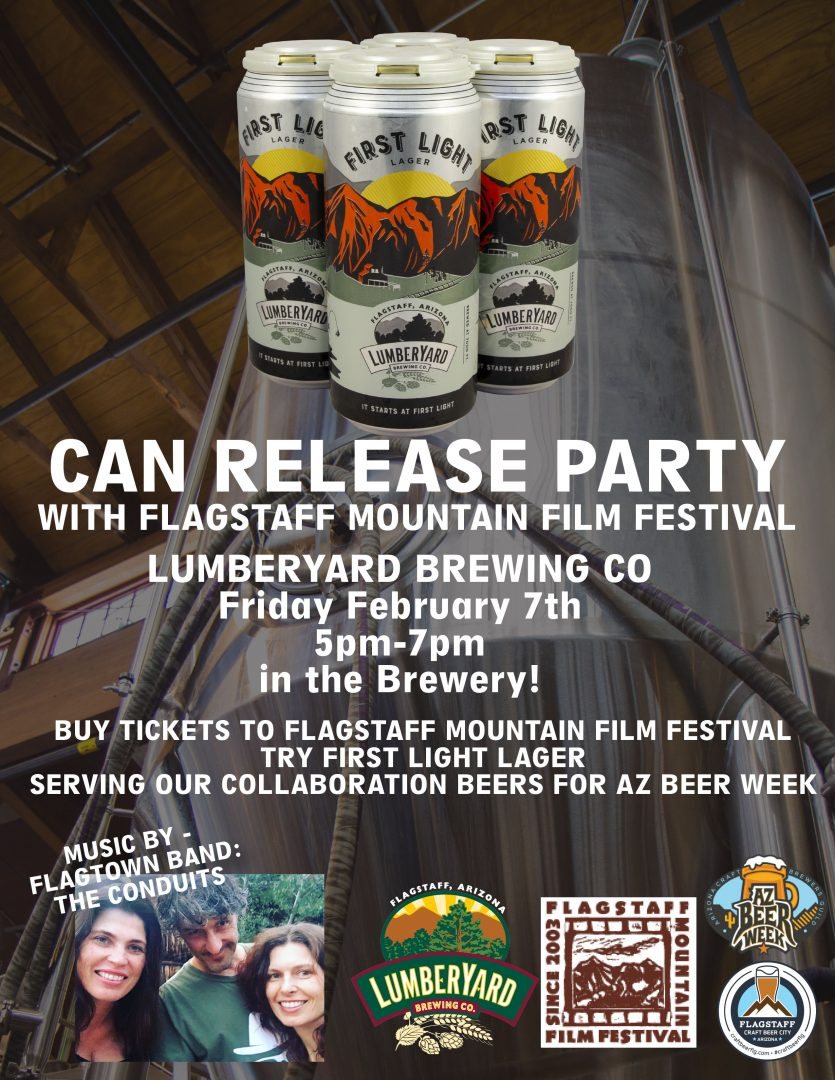 Flagstaff Mountain Film Festival Happy Hour & First Light Lager Can Release!