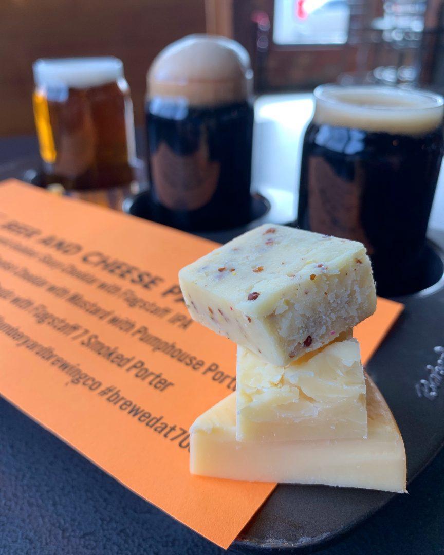 Beer & Cheese Flights @ Lumberyard Brewing