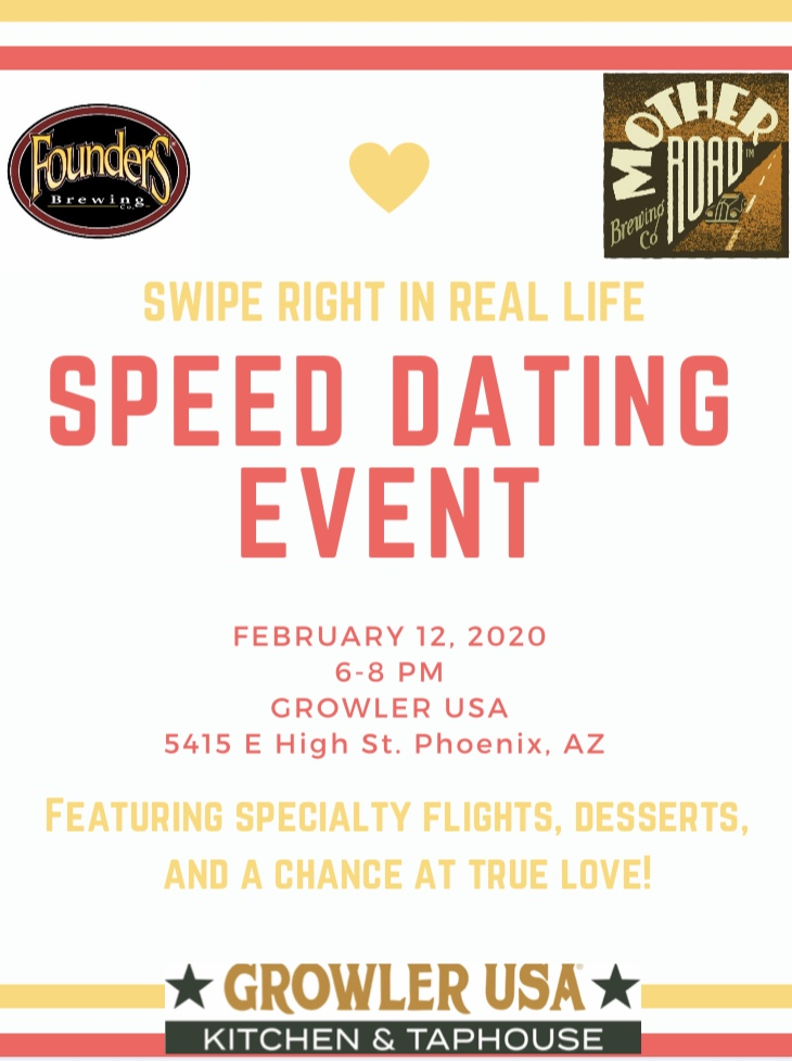 """""""Swipe Right in Real Life"""" Speed Dating with Mother Road Beer & Founders Brewing"""
