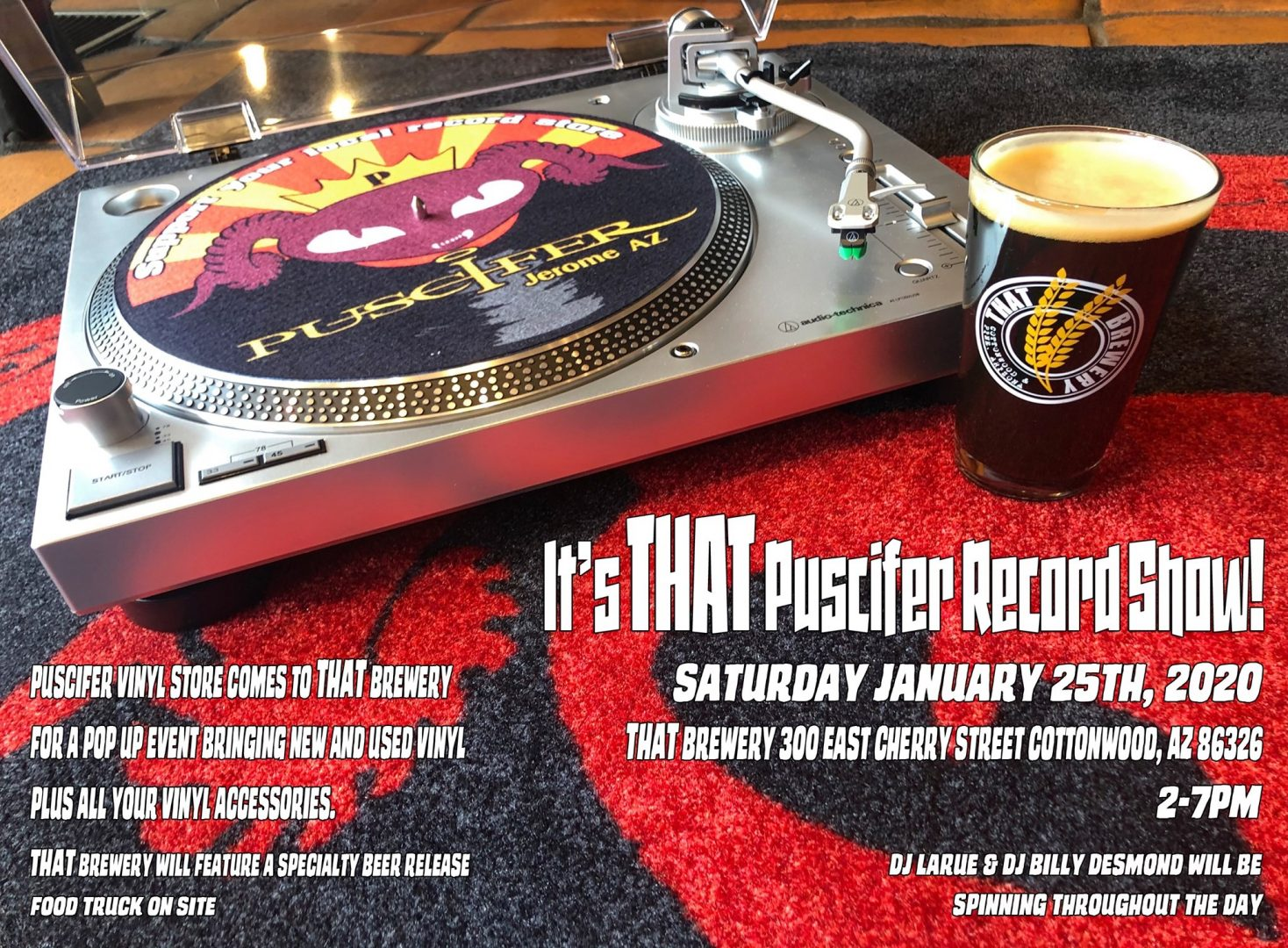 It's THAT Puscifer Record show – pop up record event celebrating upcoming AZ Beer Week