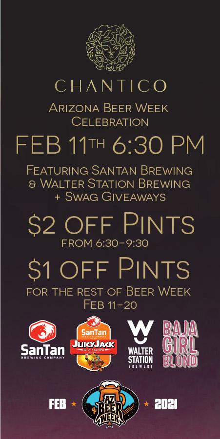 Chantico Arizona Beer Week Celebration