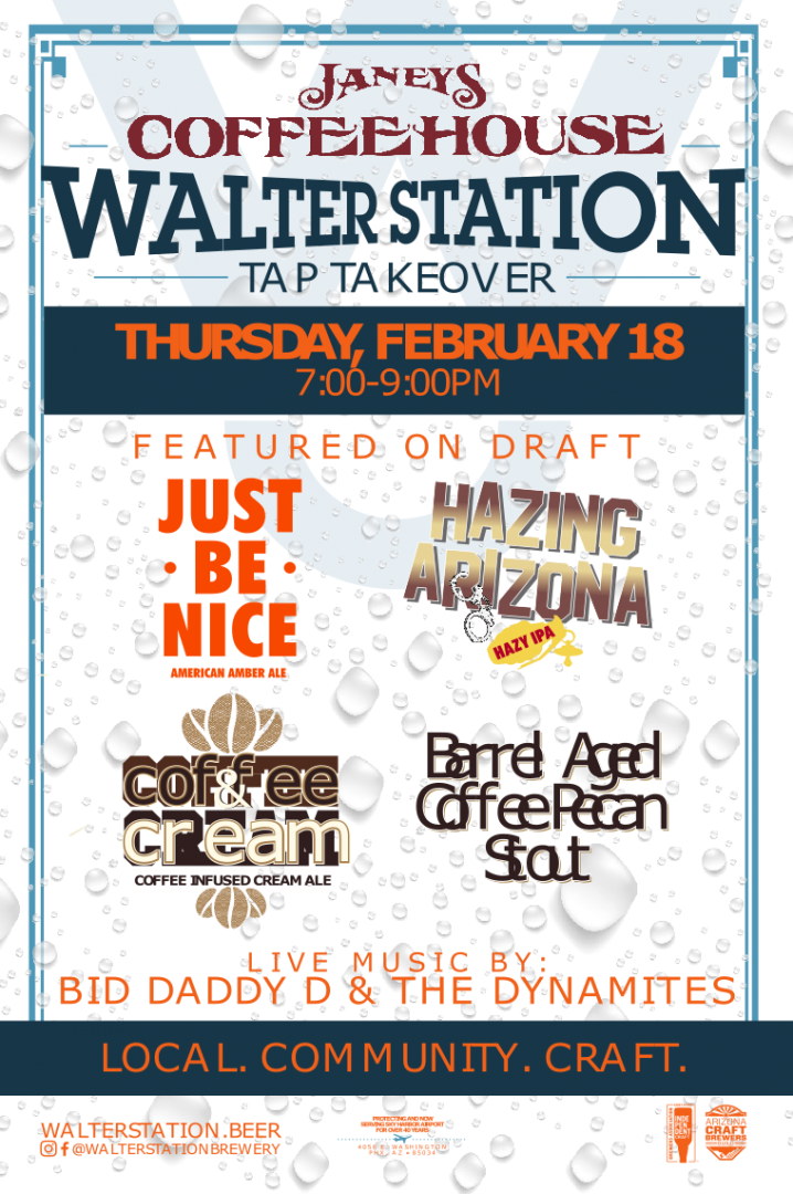 Walter Station Tap Takeover at Janey's Coffee House